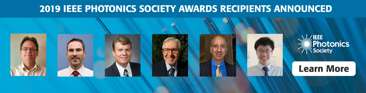 2019 IEEE Photonics Society Award Recipients Announced