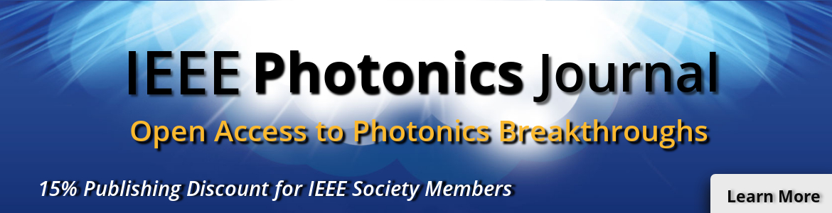 2018- IEEE Photonics Journal Banner Society Discount